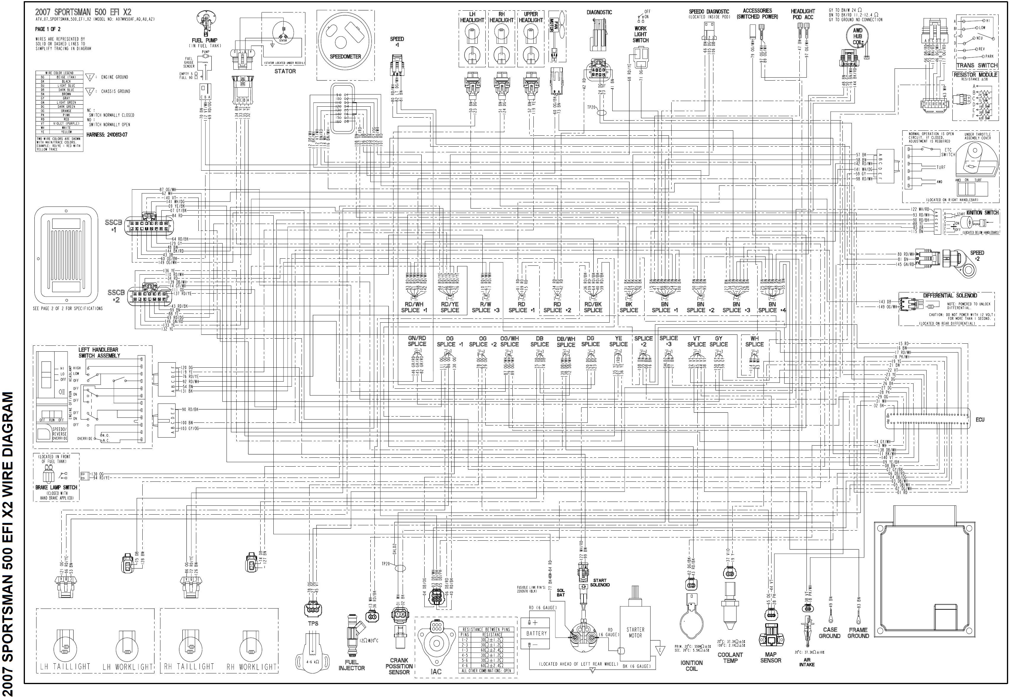 Polaris Sportsman 2007 500 Adc Wiring Diagram X2